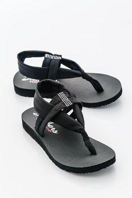 39 Disco 6eu Meditation Rrp Uk Women's Sandals Size Skechers Black v800wETq