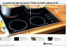 PUBLICITE ADVERTISING 096  1995  Scholtès  (2p)   table culinaire  Galbe