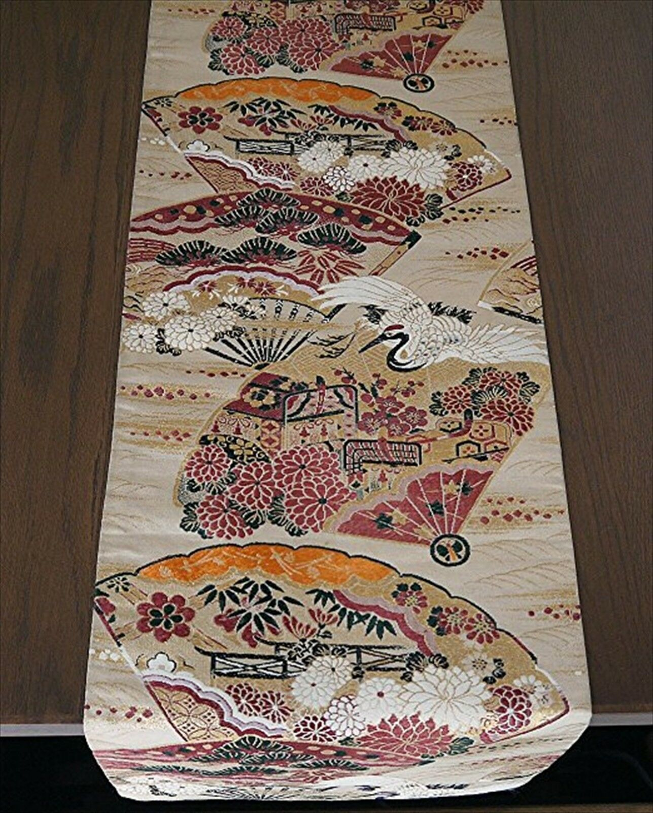 Table center Made of antique japanese kimono obi Hand Made one of a kind SOIE 20