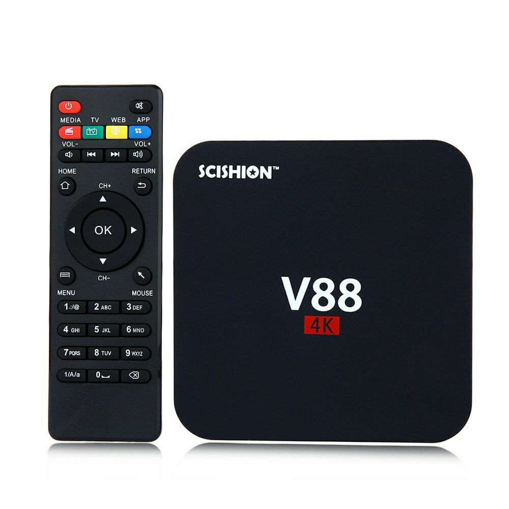 SCISHION V88 RK3229 4K Android 5.1 1G 8G WIFI LAN Dolby DTS Media Player TV Box