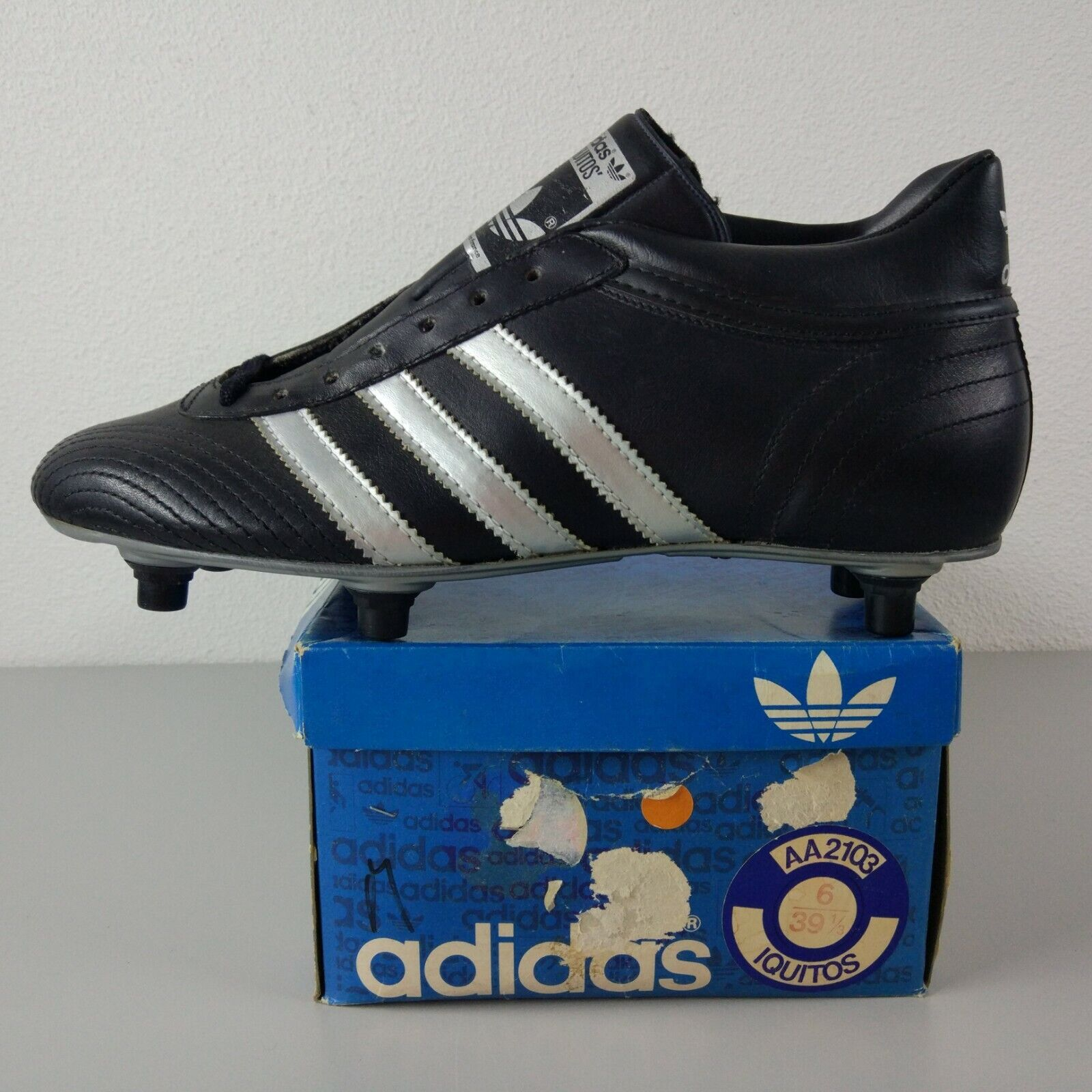 Adidas Iquitos Cleats Made In France 70's Vintage US 6 BNIB Soccer Torsion ZX OG