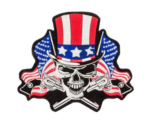 Uncle Sam Skull Center Patch