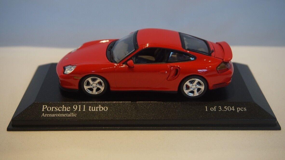 VERY RARE Minichamps Porsche 911 Turbo 1995 Red Metallic 1 43