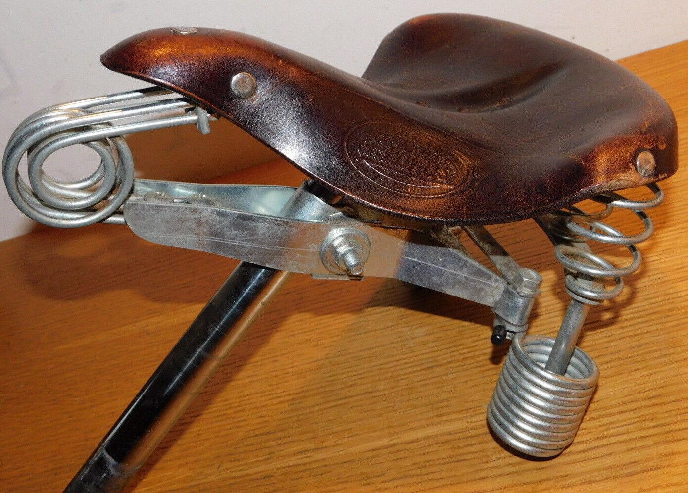 Verkoop cuir PRIMUS Lepper HOLLAND vintage BIKE leren zadel VELO sattle LEDER