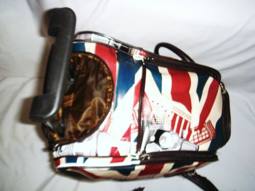 Mini Voiture Union Jack à roues Holdall Trolley Cabine Weekend Sac Bagages à Main