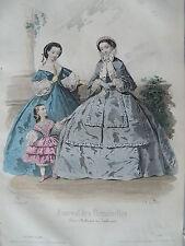 1i98 Gravure de mode 1860 journal des demoiselles