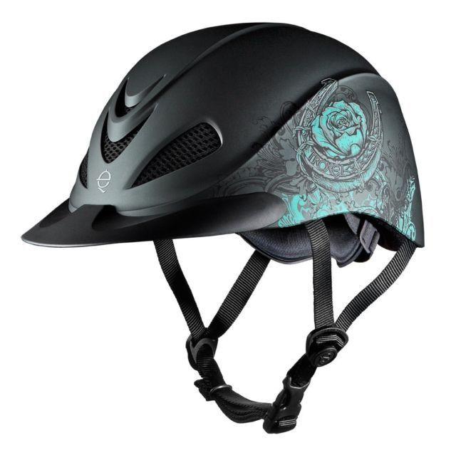 Weaver Troxel Rebel Niedrig Rose Profile Western Helmet Turquoise Rose Niedrig 517127