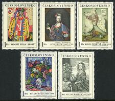 Czechoslovakia 1435-1439, MNH.Paintings. Hollar,Kupecky,Purkyne,Spala,Fulla,1966