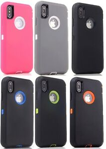 Lot 5-Pack Protective Defender Case for Apple iPhone 5 6s 7 8 Plus XR Wholesale
