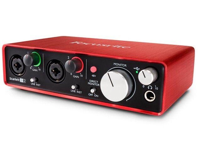 Focusrite Scarlett 2i2 2nd Gen MK2 Interfaz De Audio Usb Usb Usb Tarjeta De Sonido - 2YR Garantía 21dea5