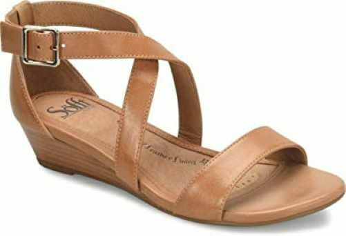 NIB Sofft Wouomo Innis Leather Heeled Sandals in Desert Sand