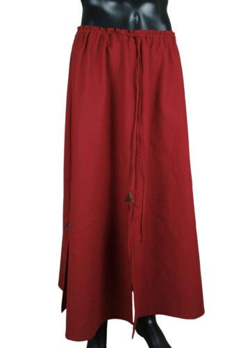 LARP Medieval Costume Garment Japan Samurai 100/% Cotton dark red Battle Skirt