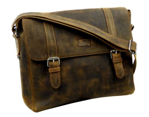 Vintage Braun Unisex 1004 Schulkurstasche alte Landleder Postbag wHqX1zWB0w