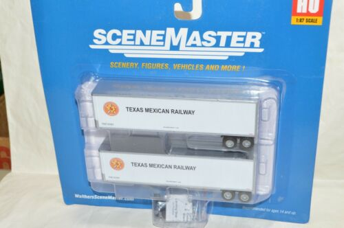 HO scale Walthers Texas Mexican Ry 40/' Trailmobile truck trailers set