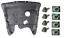 RENAULT-CLIO-II-1998-2012-PLAQUE-COUVERCLE-CACHE-PROTECTION-SOUS-MOTEUR-SET miniature 1
