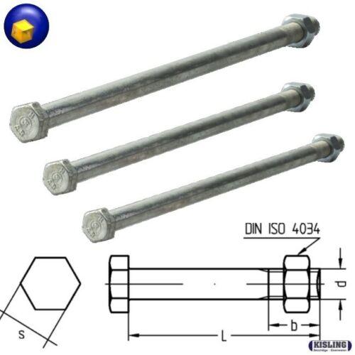 Bauschrauben ähnlich Din 601 ø M12 ø M16 mit Mutter Länge ab 160 mm bis 600 mm