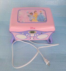 2004 Disney Princess CD Player Jewelry Box Mirror Storage Jukebox