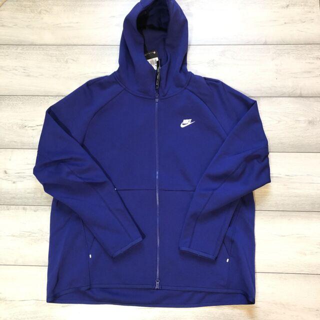 928483-438 White New Men/'s Nike Tech Fleece Full-Zip Hoodie Indigo Force