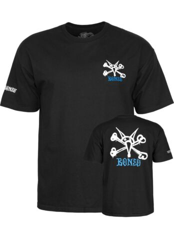 Powell Peralta Skateboard Shirt Rat Bones Black Tee Size S-3XL