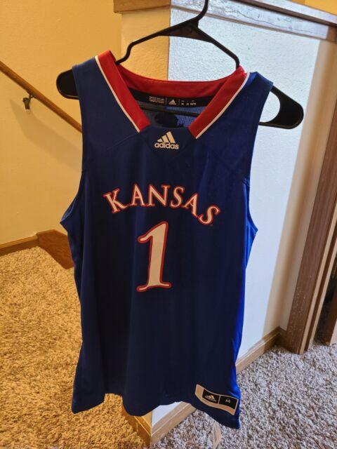adidas Kansas Jayhawks Authentic Swingman Jersey Blue Size Medium ...