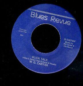KANSAS-CITY-BLUES-GUITAR-45-W-G-BILL-CARTER-Livin-039-The-Blues-Slick-Talk