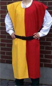 MEDIEVAL-Knight-Tunic-2-Colors-Surcoat-Sleeveless-Renaissance-LARP-SCA