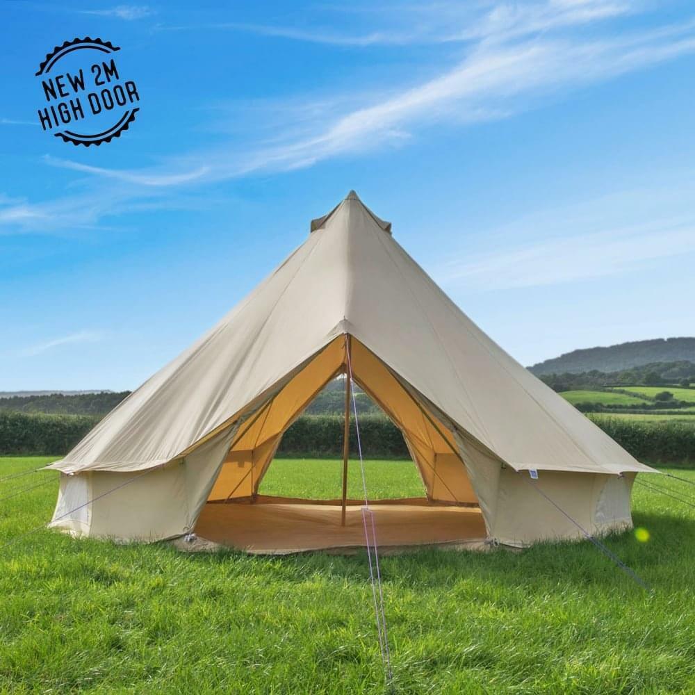 Boutique Camping 5 m grès toile Bell Tente-Double Porte