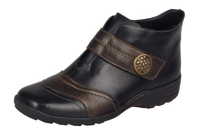 Damas Informal botín remonte D0573-Negro 11 Combi UK Size 4.5, 6.5