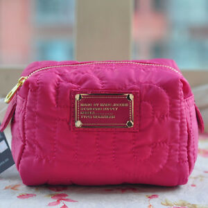 Hot-Sale-Marc-by-Marc-Jacobs-Nylon-Casual-Clutch-Handbag-Rose-Red-Cosmetic-Bag