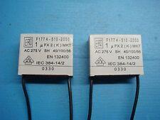 (2) VISHAY ERO F1774-510-2000 1uF X2 275V MKT RADIAL SUPPRESSION CAPACITOR