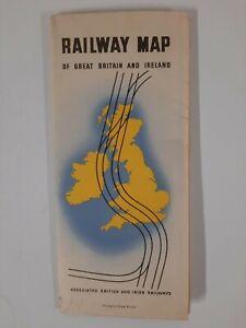 GREAT BRITAIN IRELAND railway MAP brochure 1940s RAILROADIANA British Railways