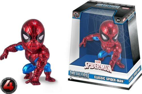 "Les Metals-Cast-Spider-Man Classic Spider-Man 4/"" FIG NEUF m261"