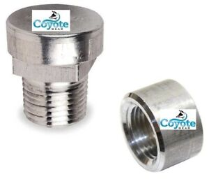 Pack of 2 Natural Stainless Steel Female 1//8 NPT Weld On Bung 1//8 Weldable Fuel Tank Fitting