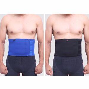Back-Waist-Support-Pull-Lumbar-Brace-Belt-Compression-Lower-Sleeve-Work-Sports