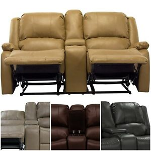 Details About 67 Double Recliner Rv Motorhomes Faux Leather Cup Holders Storage Compartment