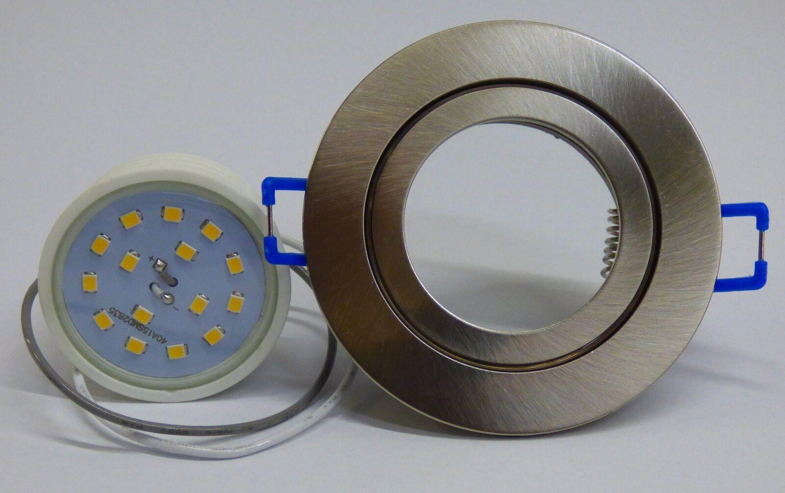 10xFlacher Led Feuchtraum Einbaustrahler NM+Flat Led ww 120° Einbautiefe 30mm