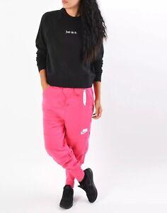 """Details about Nike Sportswear NSW Women's Fleece Joggers AH4005 674 Pink Size L W31"""" Loose Fit"""