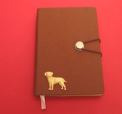 Boxer Dog Motif A6 Olive Green Soft Touch Journal Father Mothers Useful Gift