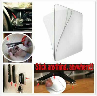 20PCS Double Sided Sticky Gel Pads Self Adhesive Clear Reuseable Non Slip Pad US