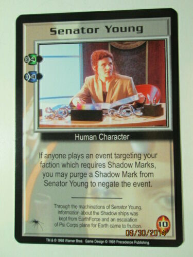 THE SHADOWS Pre-owned RARE CARDS PICK ONE 1998 BABYLON 5 CCG F to S