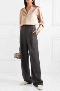 Joseph-Womens-Pure-Silk-Satin-Finish-Blouse-Gold-Beige-Sizes-FR36-to-42-RRP-345