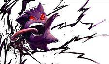 156 Pokemon Gengar PLAYMAT CUSTOM PLAY MAT ANIME PLAYMAT FREE SHIPPING