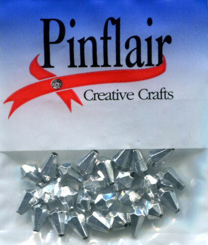 6 mm x 9 mm Pinflair goutte à facettes perles PK de 25 environ