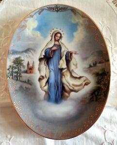 Bradford Exchange Piatto ovale porcellana Visions of our Lady Madonna Medjugore - Italia - Bradford Exchange Piatto ovale porcellana Visions of our Lady Madonna Medjugore - Italia
