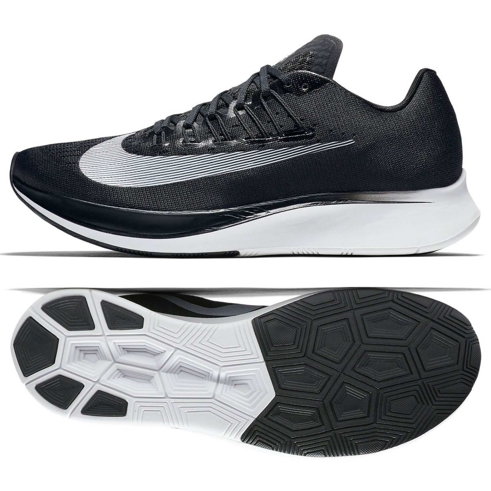 Nike Zoom Fly 880848-001 Black White Anthracite Carbon-Infused Men Running shoes