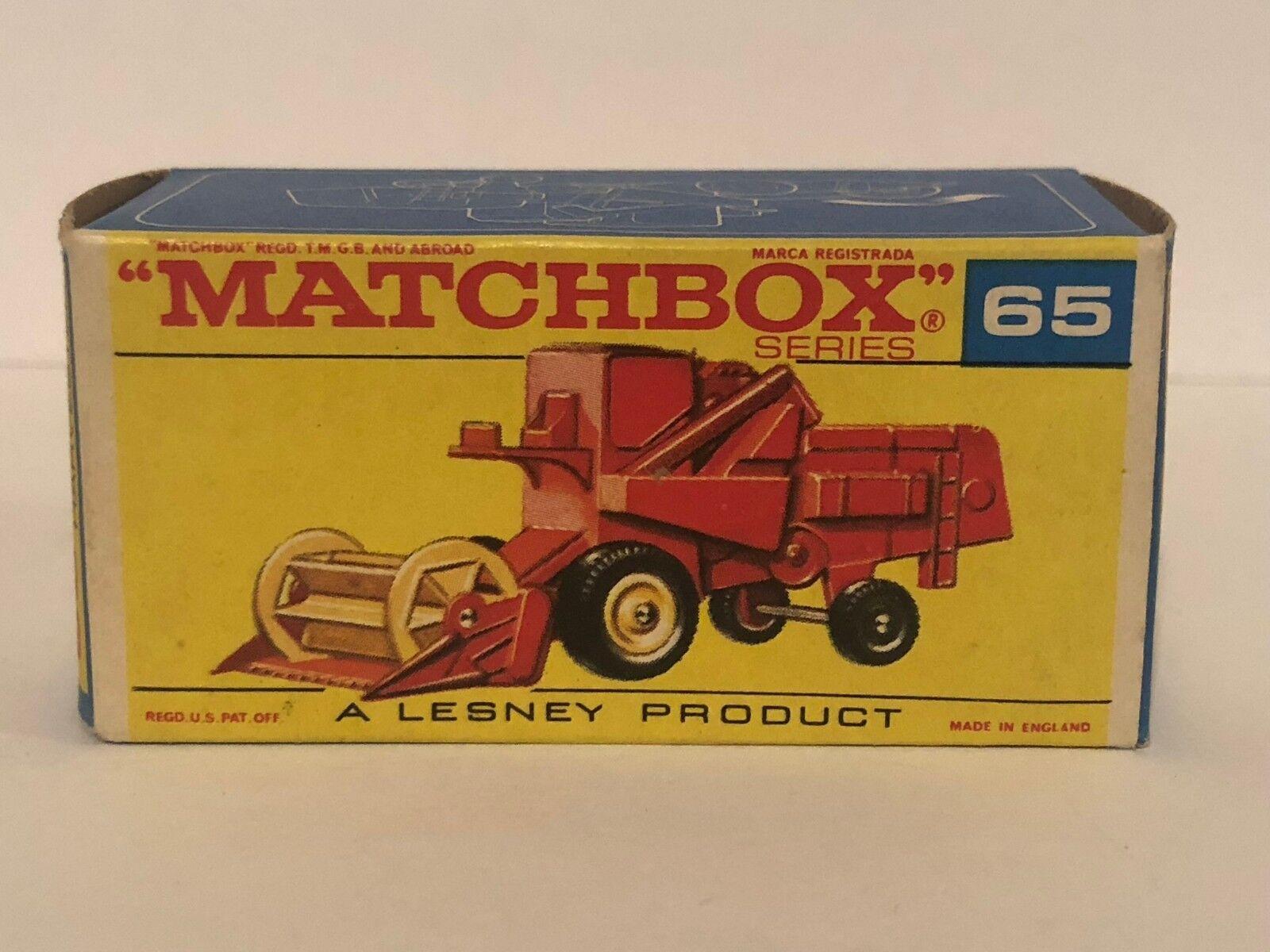 Matchbox 65 CLAAS Combine Harvester Red Excellent Original Original Original Box d4033c
