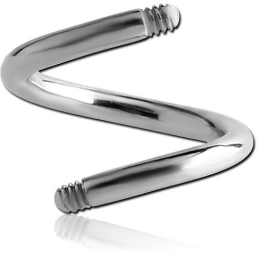 Titan Spirale 1.6 mm Gewinde Bauchnabelpiercing Intimpiercing