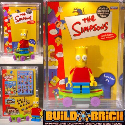 BART SIMPSON Custom Mini Action Figure w Display Case 130 Mini-fiG SIMPSONS Toon