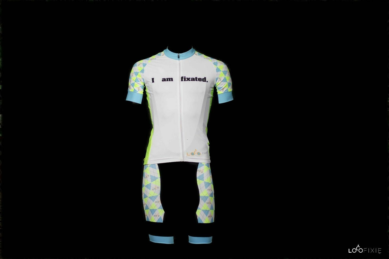 Nieuwe LOCO Team Bike Cycling Kit Jersey Bib korts Cycling Wear Set wit Neon