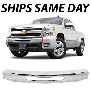 NEW Chrome Steel Front Bumper Impact Face Bar for 2007-2013 Chevy Silverado 1500 646621005484